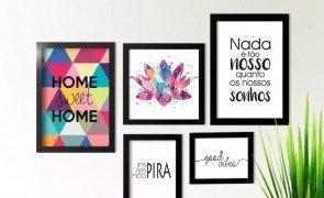 kit quadros frases com 5 quadros para decorar o ambiente frases para quadros para imprimir