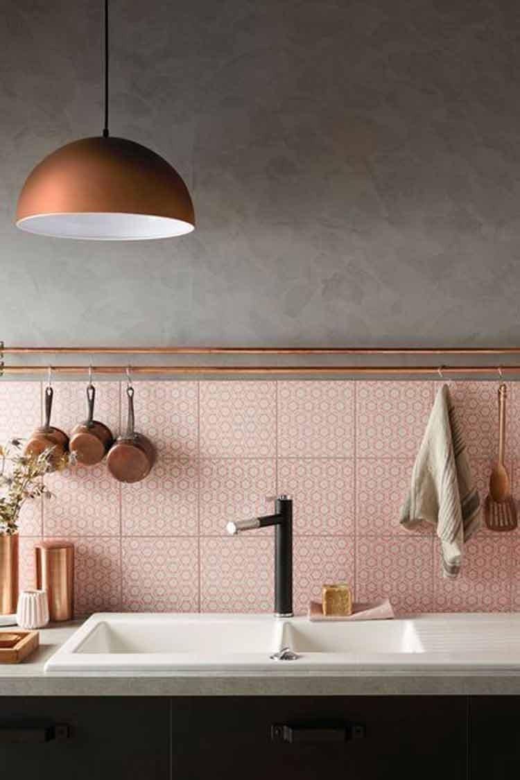 cozinha cor de rosa decoracao