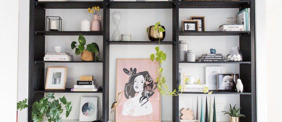 Estantes na decoração: ideias para um espaço de revista.