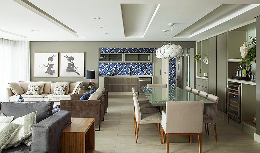 casa ampla cozinha sala integrada