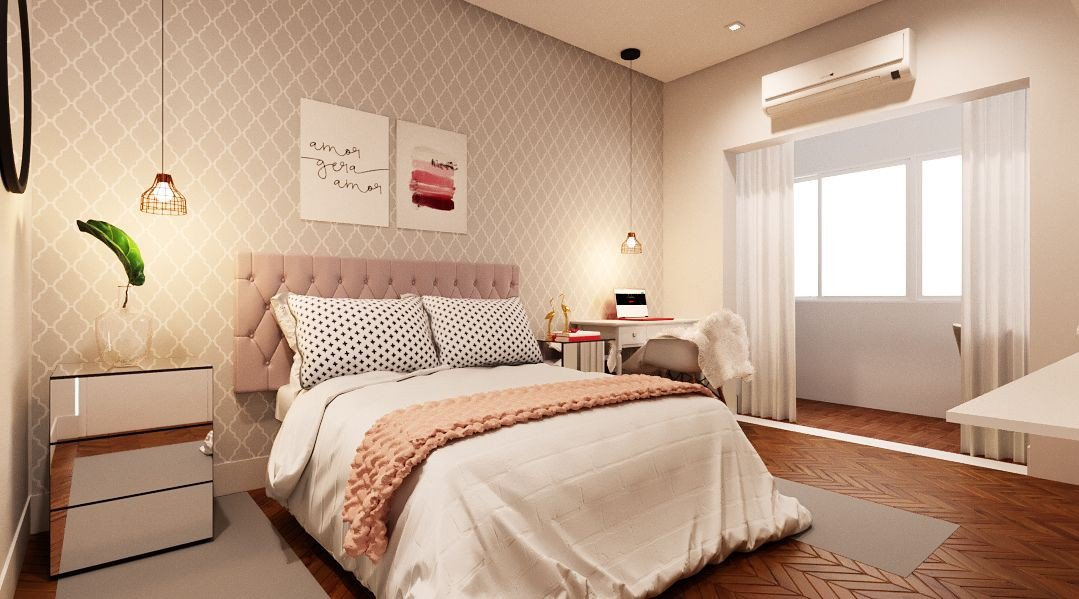quarto decoracao romantica moderna prego e martelo
