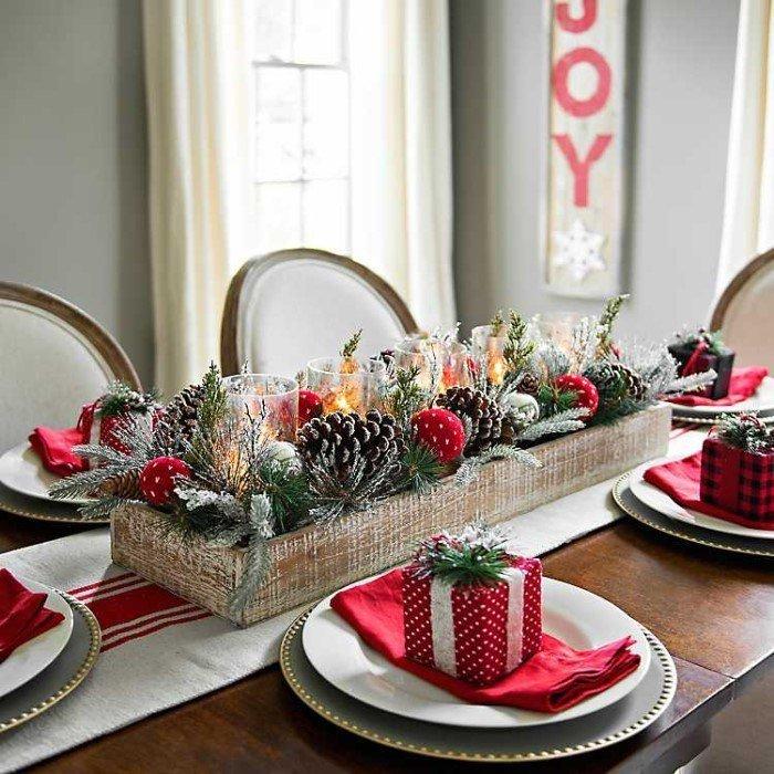como montar uma mesa posta de natal lembrancinha