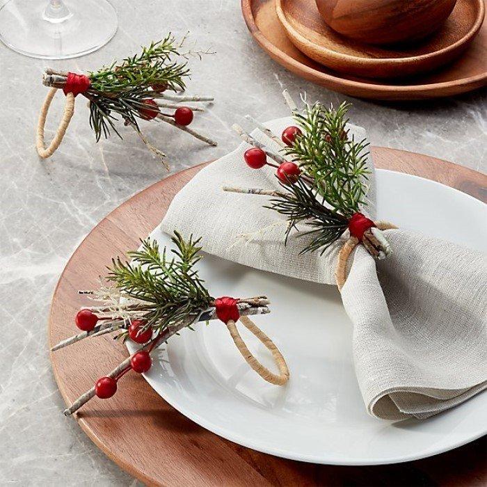 como montar uma mesa posta de natal portaguardanapos