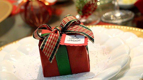 decoracao mesa natal barata