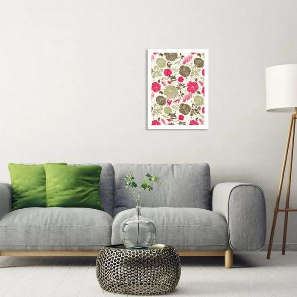 quadro floral prego e martelo