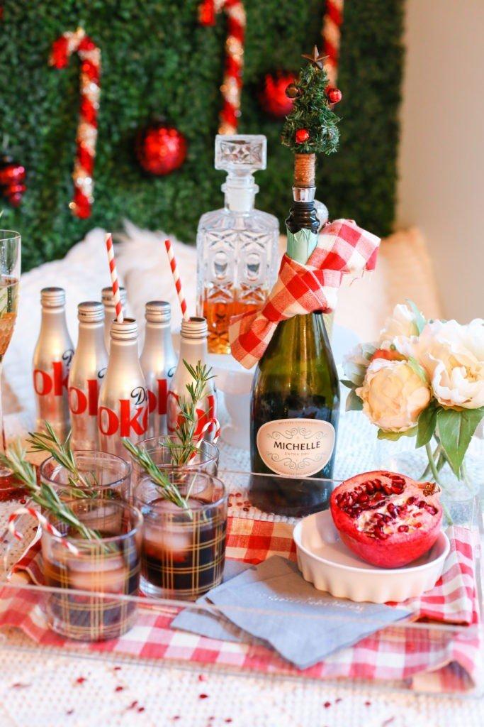 bebidas mesa natal prego e martelo