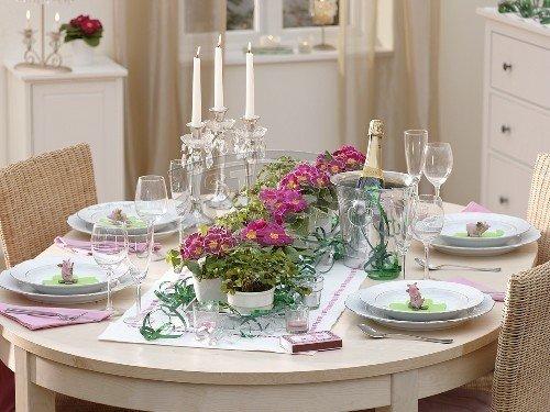 mesa ano novo flores