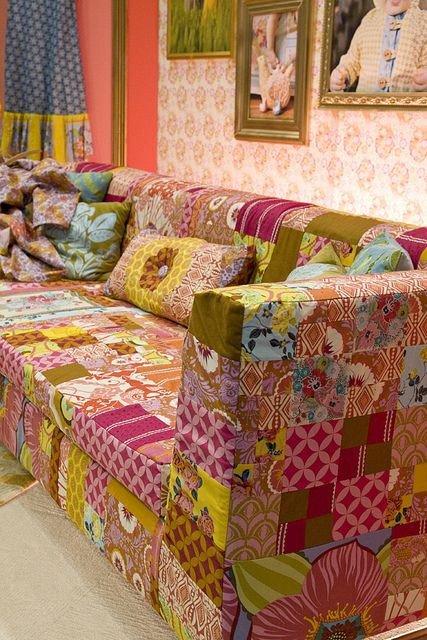 capa de sofa patchwork