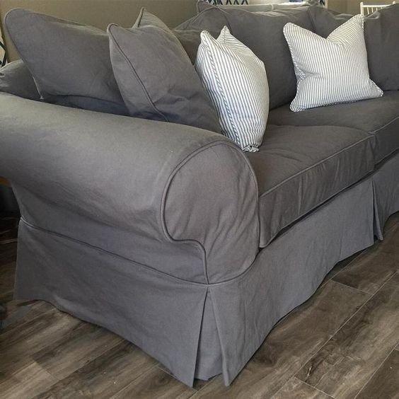 capa sofa prego e martelo cinza
