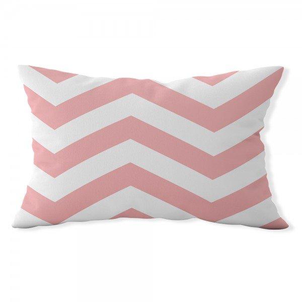 almofada baguete chevron rosa