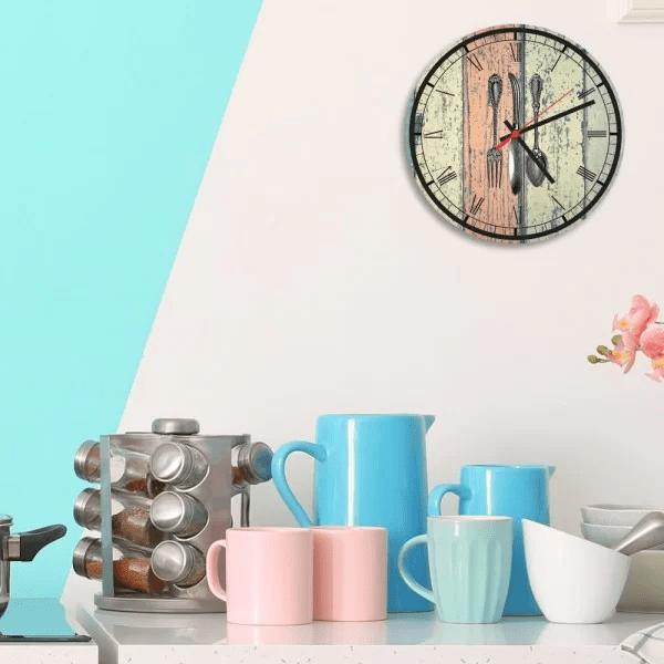 relogio de parede decorativo talheres kitchen relcoz005cf2