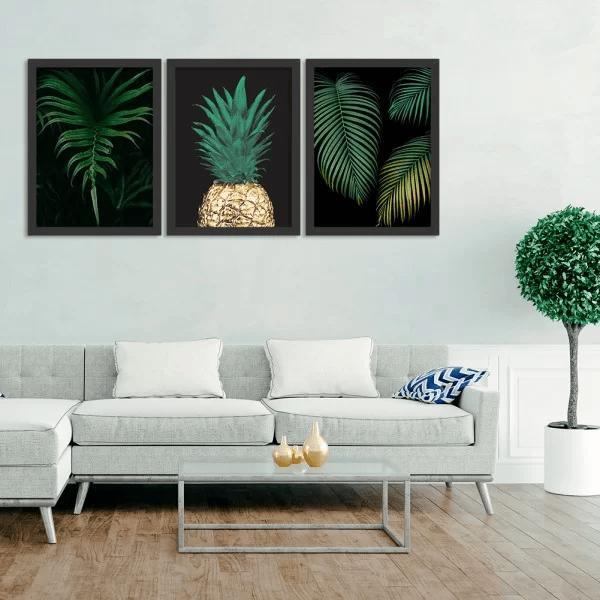 quadro abacaxi lindo prego e martelo