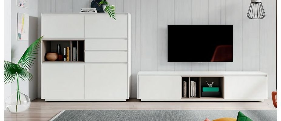Decoração de sala de TV simples e barata.